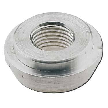 "Fragola - FRA499510 -  Fragola Weld Bung With .750"" Diameter Step,Aluminum,4AN Female"