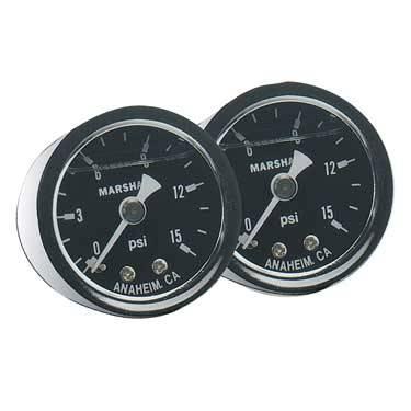 Fragola - FRA900002 -  Fragola Fuel Pressure Gauge,0-15 psi, Liquid Filled