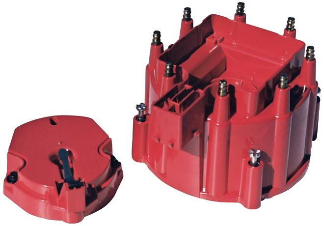 PACE Performance - PAC-947RC - GM V8 HEI Distributor Cap And Rotor Kit , Red Cap
