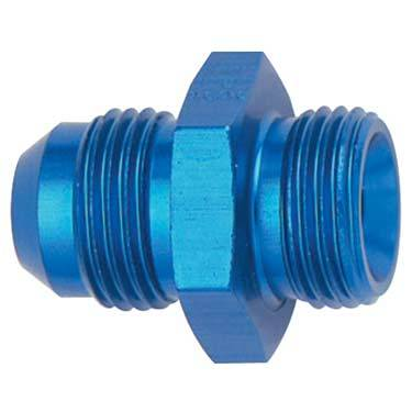 Fragola - FRA460606 - AN to Metric Adapter, 6AN Male to 10mm x 1.25 Male, Blue
