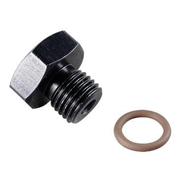 Fragola - FRA481412-BL -  Fragola Aluminum Port Plug, -12 (1 1/16-12), Black