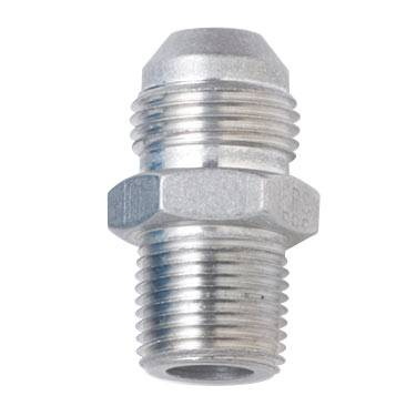 "Fragola - FRA481603-CL - Fragola AN Male To Male NPT Adapter, Straight, Clear, 3AN To 1/8"" NPT"