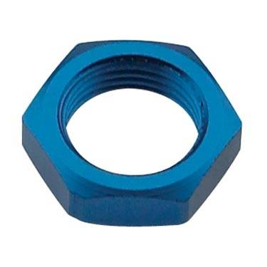 "Fragola - FRA492403 -  Fragola Bulkhead Nut, Blue, 3AN, 3/8""-24 Thread"