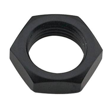 "Fragola - FRA492403-BL - Fragola Bulkhead Nut, Black, 3AN, 3/8""-24 Thread"
