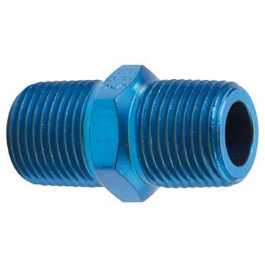 """Fragola - FRA491101 -  Fragola Male Pipe Nipple,Blue,1/8"""" NPT"""
