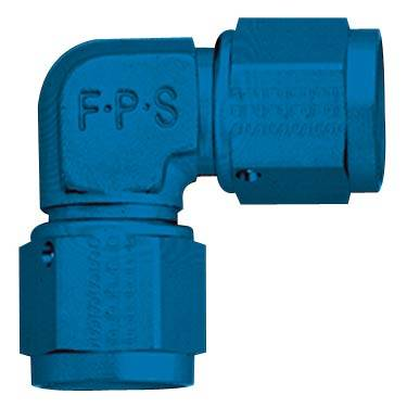 Fragola - FRA496316 -  Fragola Female To Female 90 Degree Coupler,16AN,Blue