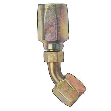 Fragola - FRA254506 -  Fragola Power Steering Hose Ends, SteeL -  Zinc Plated, -6AN, 45 Degree