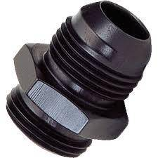 Fragola - FRA460415-BL - AN to Metric Adapter, 8AN Male to 22mm x 1.5 Male, Black