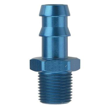 "Fragola - FRA484010,Hose Barb to Pipe Adapter,840,5/8"" Hose,1/2"" MPT, Aluminum, Blue Anodized"