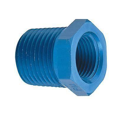 "Fragola - FRA491201 -  Fragola Pipe Bushing Reducer,Blue,1/8"",1/4"" NPT"