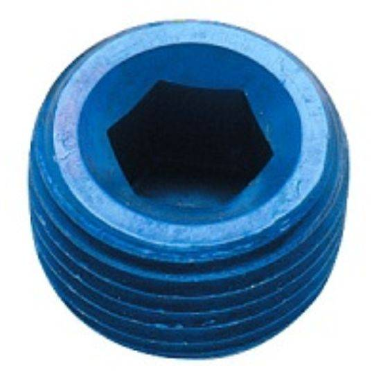 "Fragola - FRA493203 -  Fragola Internal Pipe Plug, Blue,1/4"" NPT"