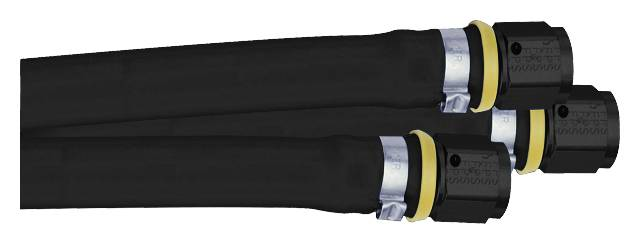 "Fragola - FRA870004 -  Fragola Series 8600/8700 Parker Push-Lok General Purpose Hose, Black, Rubber, -4AN, 1/4"" I.D., Sold Per Foot"