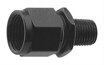 """Fragola - FRA499303-BL - Fragola AN Swivel To Male Pipe Adapter,3AN To 1/8"""" NPT,Black"""