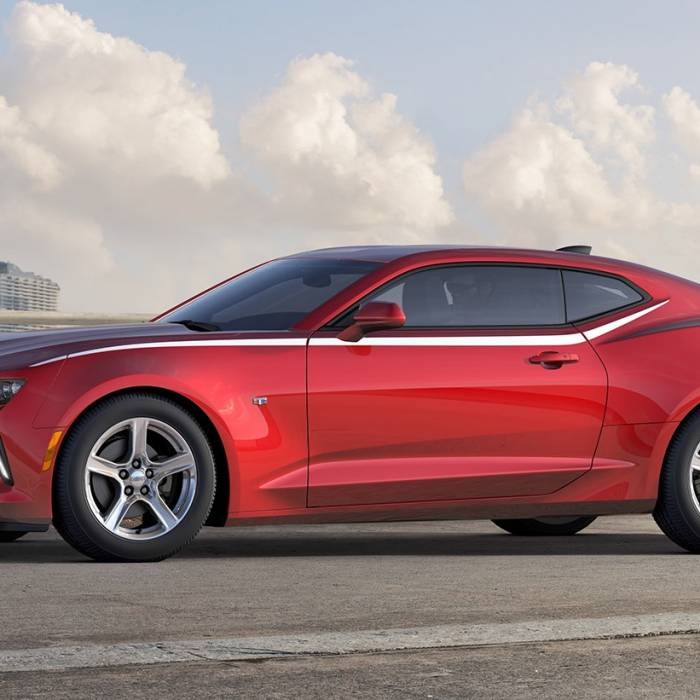 Chevrolet Performance Parts - 23507054 - Body Side Spear Decal/Stripe Package, 2016-17 Camaro Coupe Only, Silver Ice Metallic