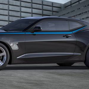 Chevrolet Performance Parts - 23507056 - Body Side Spear Decal/Stripe Package, 2016-17 Camaro Coupe Only, Hyper Blue Metallic (GD1)