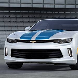 GM (General Motors) - 84047850 - Rally Stripe Decal/Stripe Package, 2016-17 Camaro Coupe V6 1Lt/2Lt, Hyper Blue Metallic (Gd1)
