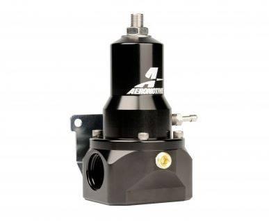 Aeromotive - AEI13132 - Regulator, 30-120 psi, .500 Valve, 2x AN-10 inlets, AN-10 Bypass