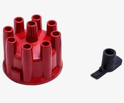 TSP - TSP-JM6972BL Top Street Cap and Rotor Kit - Female- 208 Series Cap w/Clamp on Style Cap. Red