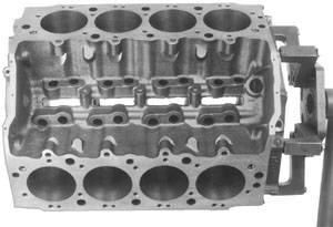 "Chevrolet Performance Parts - 19212196 - Bowtie Chevy Big Block - 4.240""-4.600"" Bore, 9.800"" Deck, 2.75"" Mains, 4 Bolt Main, Siamesed Bores"