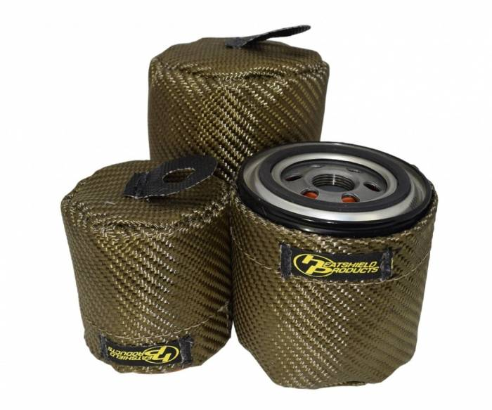 Heatshield Products - Oil Filter Heat Shield, Ford Mod Motor/Late Model CHRY/Dodge Hemi Fram PH2 or equivalent Heatshield Products 504701