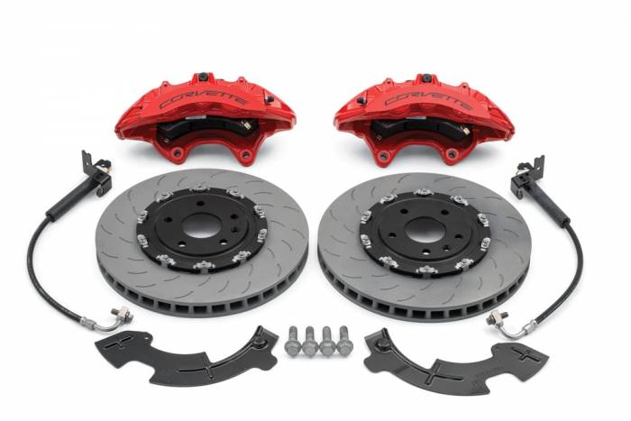 Chevrolet Performance Parts - 23386144 - Corvette Z06 Front Brake Kit (Iron Rotors) for Stingray with Z51