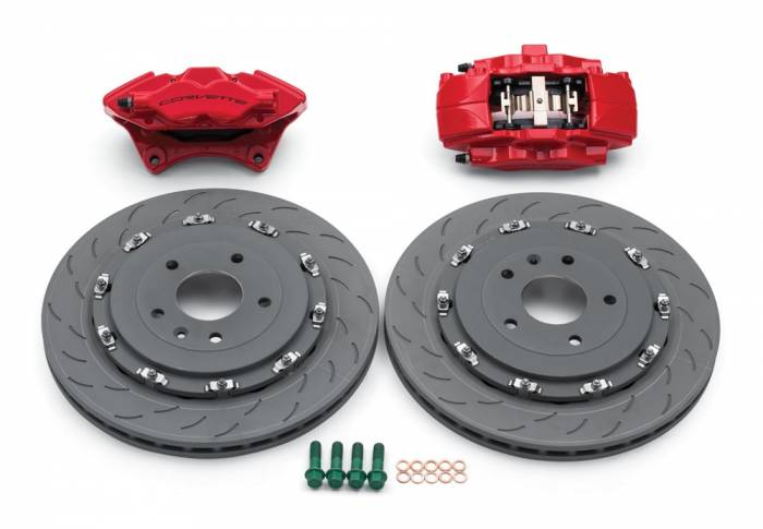 Chevrolet Performance Parts - 23386145 - Corvette Z06 Rear Brake Kit (Iron Rotors) for Stingray with Z51