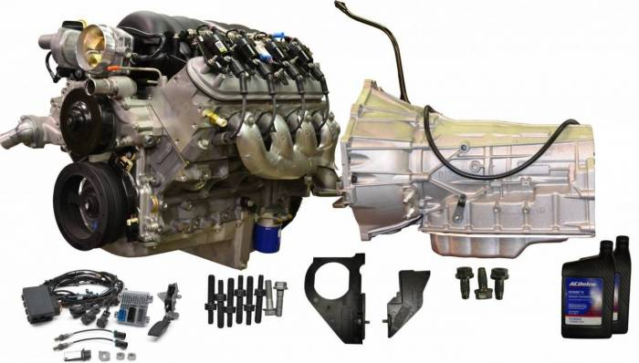 PACE Performance - CPSLS36L80E-X-4WD GM LS3 430HP Engine with 6L80E 6-Speed Auto Transmission Combo Package.