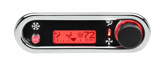 Dakota Digital - DAKDCC-2500H-C-R - DCC Digital Climate Control - Vintage Air Gen IV - VHX Style - Horizontal, Chrome, Red Display