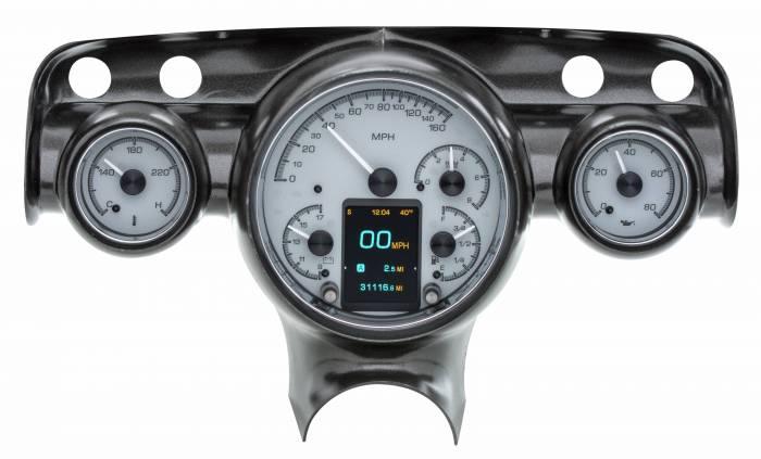 Dakota Digital - DAKHDX-57C-S - 1957 Chevy Car HDX System, Silver Face