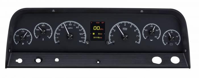 Dakota Digital - DAKHDX-64C-PU-K - 1964-66 Chevy Pickup HDX System, Black Face