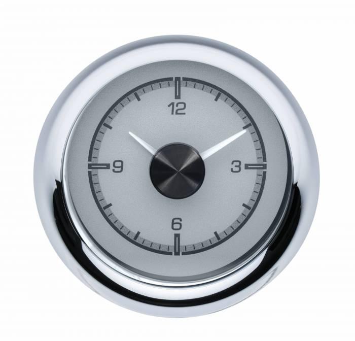Dakota Digital - DAKHLC-55C-S - 1955-56 Chevy Car HDX Style Clock, Silver Face