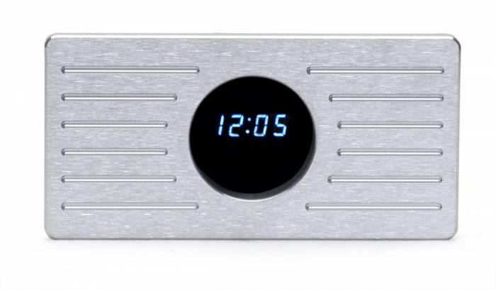 Dakota Digital - DAKALC-35-CLK - 1935-36 Ford Aluminum clock panel w/clock