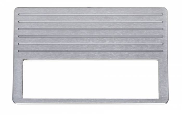 Dakota Digital - DAKCALR-37-D - 37-38 Chevrolet aluminum radio panel, DIN cutout