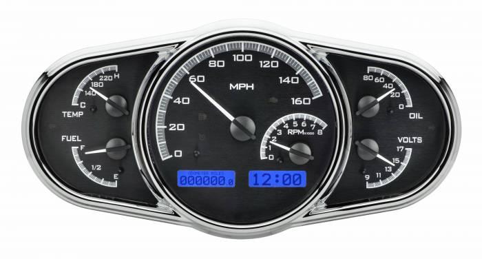 Dakota Digital - DAKVHX-1016-K-B - Universal Multi-Level VHX System, Black Alloy Style Face, Blue Display