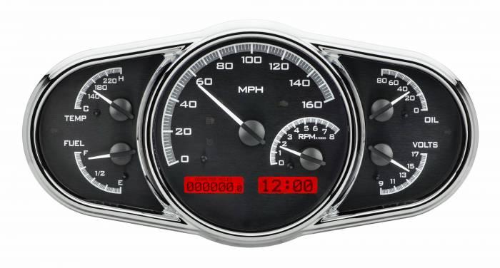 Dakota Digital - DAKVHX-1016-K-R - Universal Multi-Level VHX System, Black Alloy Style Face, Red Display