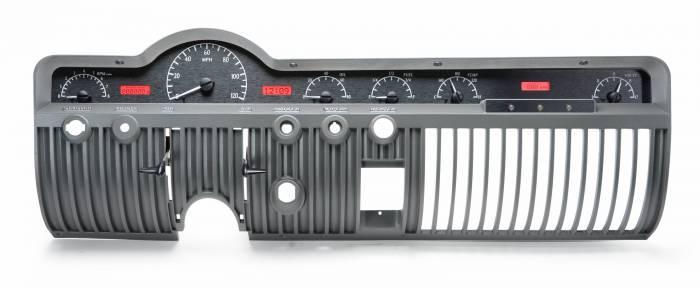 Dakota Digital - DAKVHX-50M-K-R - 1950-51 Mercury VHX System, Black Alloy Style Face, Red Display