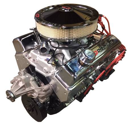 PACE Performance - BP38313CT1-1FX - Pace Fuel Injected SBC 383/430HP Crate Engine with Chrome Trim