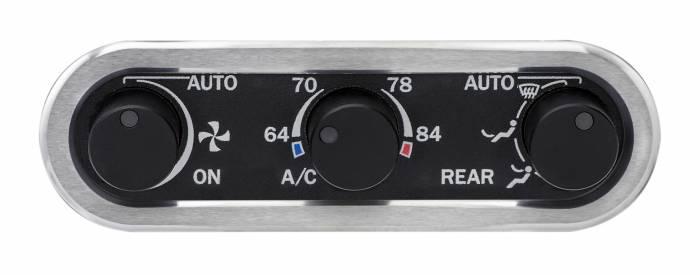 Dakota Digital - DAKDCC-3000HS-K-W - DCC Digital Climate Control - Vintage Air Gen IV 3-Knob, Horizontal, Satin, Black Alloy, White Display