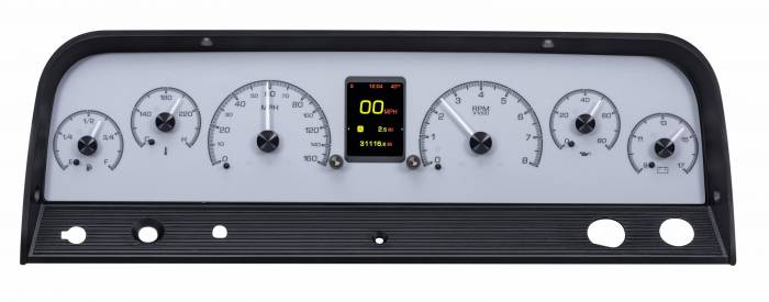 Dakota Digital - DAKHDX-64C-PU-S - 1964-66 Chevy Pickup HDX System, Silver Face
