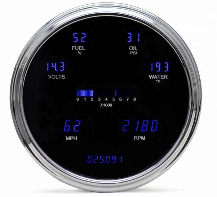 "Dakota Digital - DAKVFD3-1005-B - Six gauge system - single 6.75"" diameter - Blue"