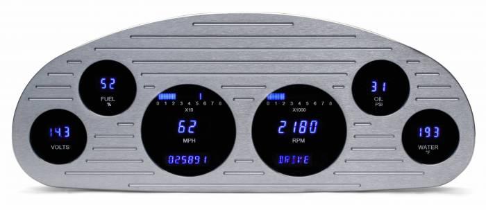 "Dakota Digital - DAKVFD3-33C-M-Z - 33-34 ""Master"" six gauge VFD system w/Blue and Teal Lenses"