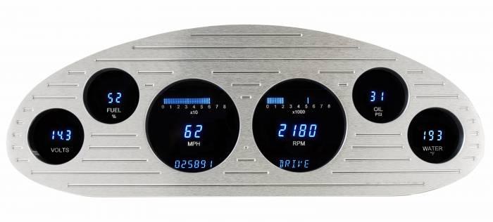 "Dakota Digital - DAKVFD3-33C-S-Z - 33-35 ""Standard"" six gauge VFD system w/Blue and Teal Lenses"