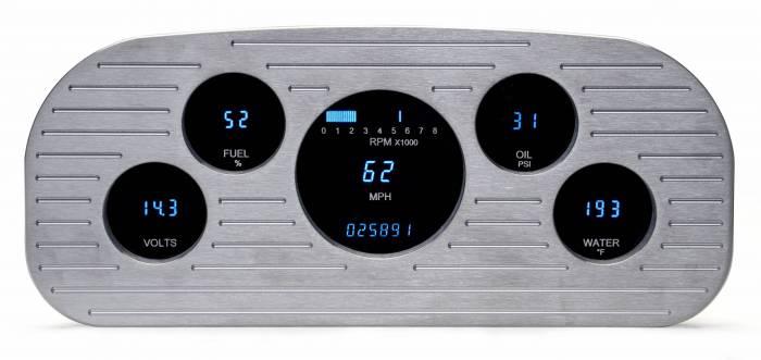 Dakota Digital - DAKVFD3-35F-PU-Z - 35-37 Ford F1 instrument system w/Blue and Teal Lenses