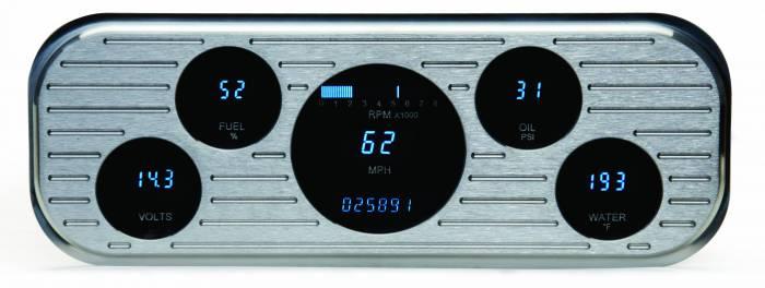 Dakota Digital - DAKVFD3-37C-Z - 37-38 Chevrolet VFD instrumentation system w/Blue and Teal Lenses