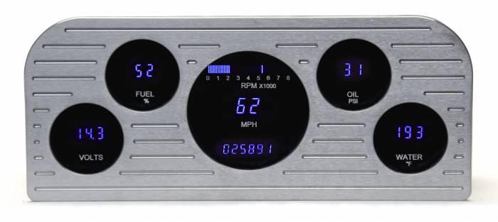 Dakota Digital - DAKVFD3-37F-Z - 37-38 Ford VFD instrumentation system w/Blue and Teal Lenses