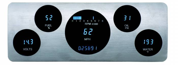 Dakota Digital - DAKVFD3-40C-PU-Z - 40-46 Chevy truck instrument panel w/Blue and Teal Lenses