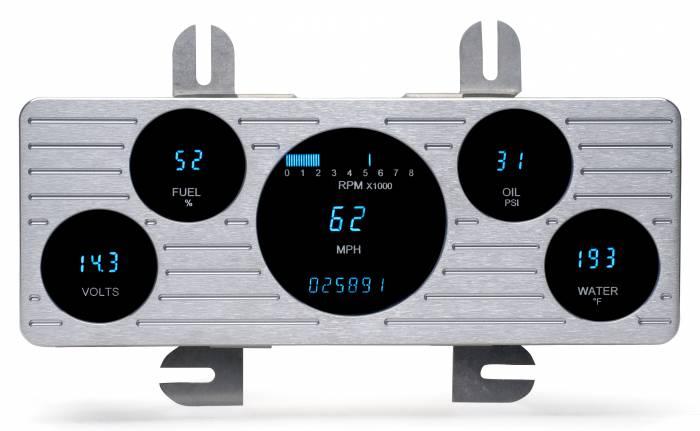 Dakota Digital - DAKVFD3-40F-PU-Z - 40-47 Ford VFD instrument system w/Blue and Teal Lenses