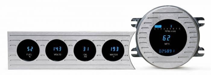 Dakota Digital - DAKVFD3-41C-Z - 41-48 Chevrolet five gauge instrumentation w/Blue and Teal Lenses