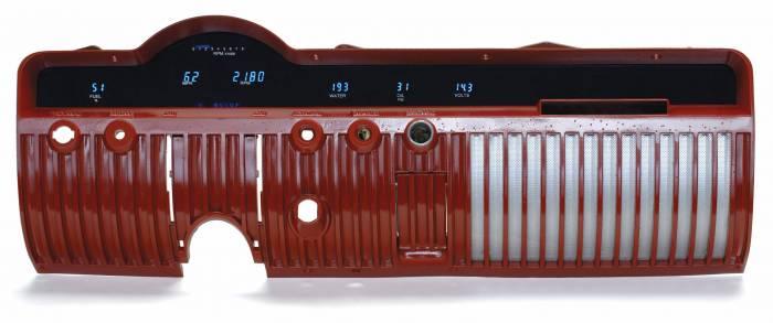 Dakota Digital - DAKVFD3-50M-Z - 50-51 Mercury VFD six gauge system w/Blue and Teal Lenses