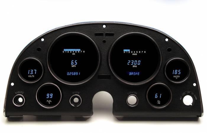 Dakota Digital - DAKVFD3-63C-VETT-Z - 63-67 Corvette VFD system w/Blue and Teal Lenses
